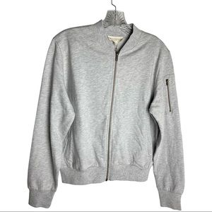SYNERGY Organic Cotton Jacket Sweater Gray Sz M